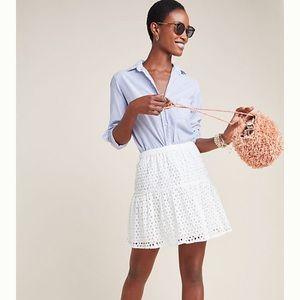 Anthropologie Frye x Talia Eyelet Mini Skirt